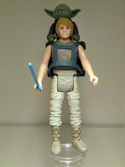 Star Wars Baby Yoda Vintage Kenner Style custom Figure